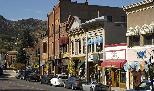 Downtown Manitou Springs CO
