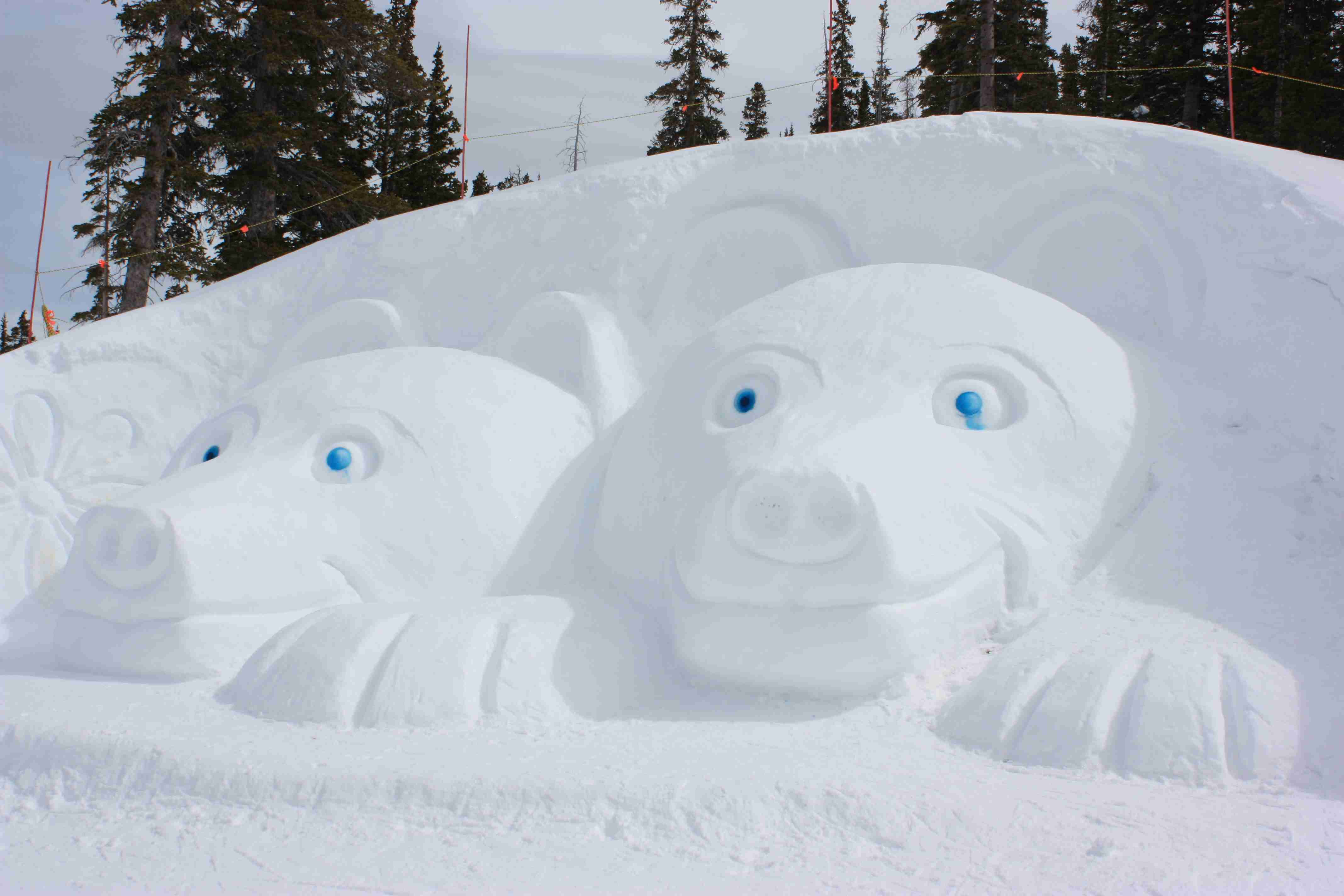 Beaver creek snow art bears