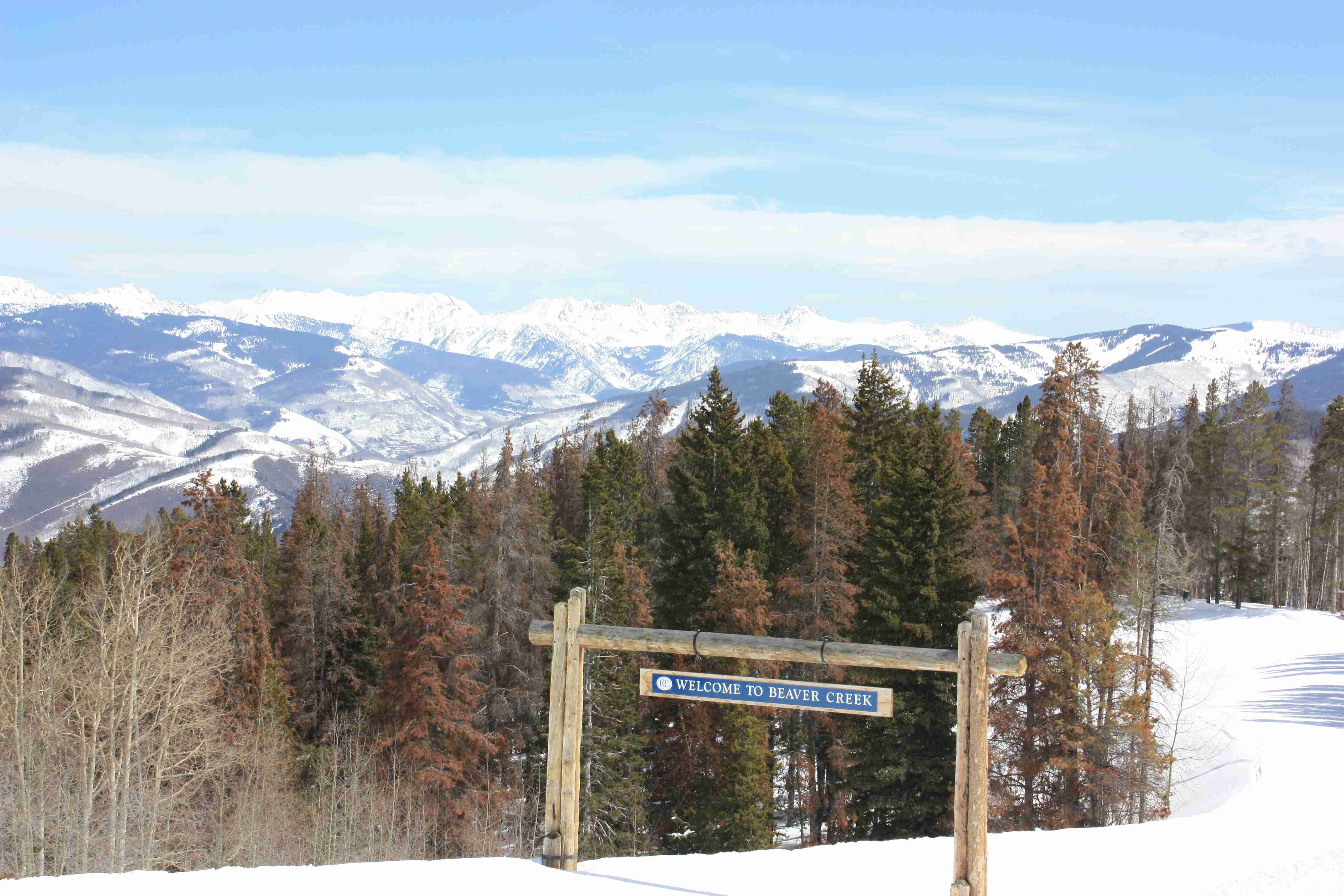 Beaver Creek Welcome Sign