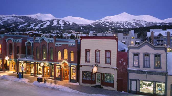 downtown breckenridge old mining town