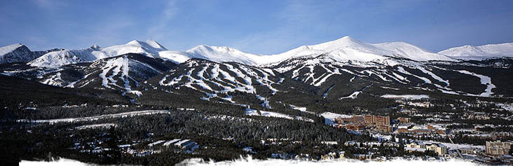 breckenridge ski resort panorama