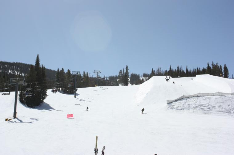 Copper Mountain half-pipe