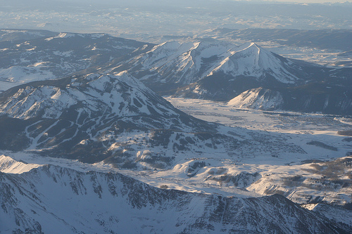 Crested Butte Aerial Winter