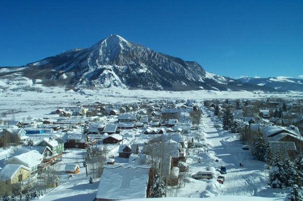 Crested Butte Town Winter