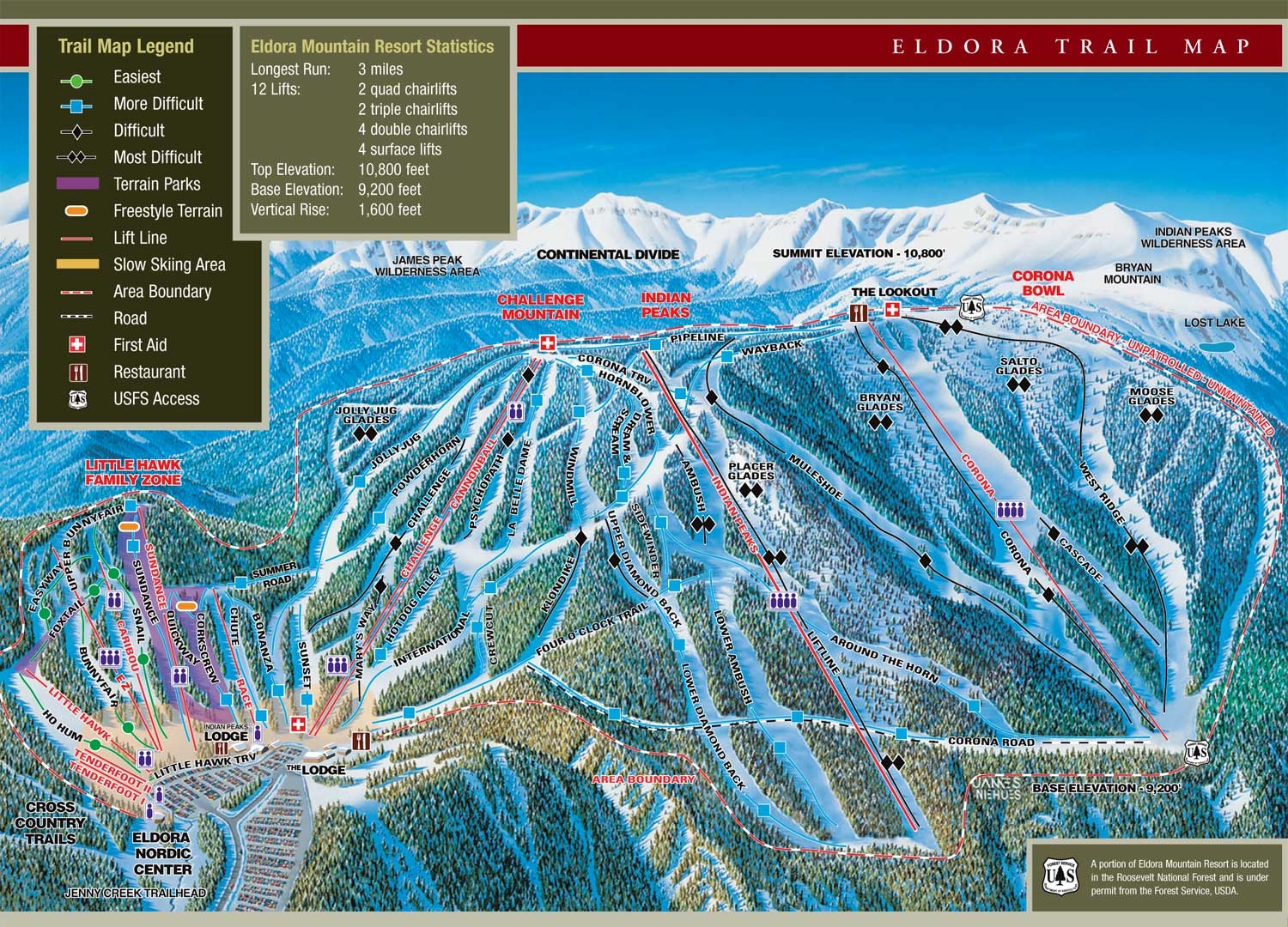 Eldora Mountain Trail Map