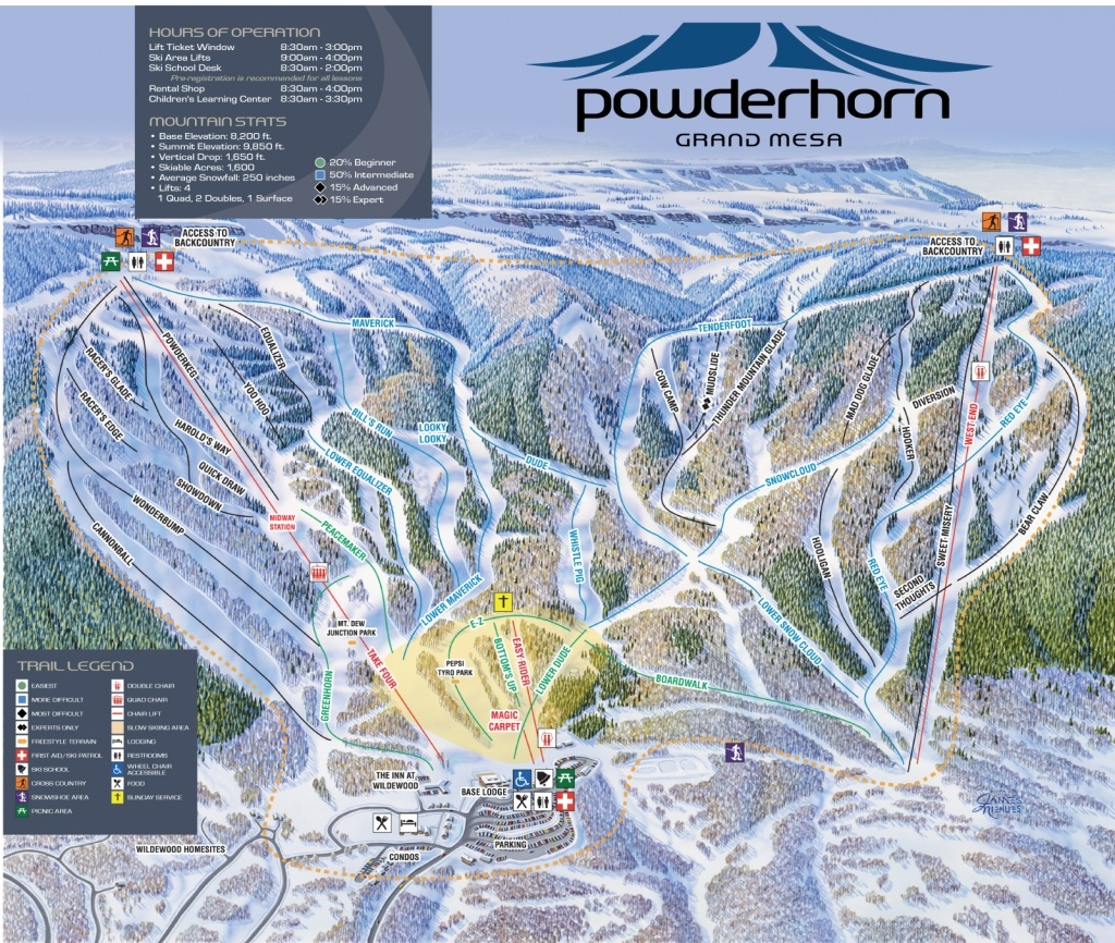 Powderhorn Resort Ski Trail Map