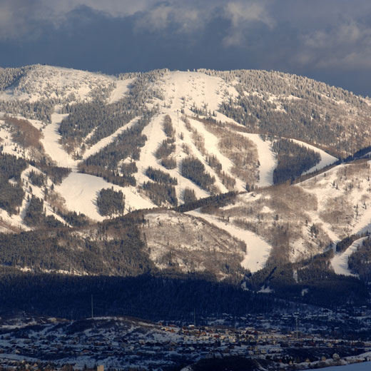 Steamboat Ski Aerial View