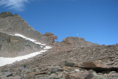 Hiking Longs Peak - Boulder Field Keyhole